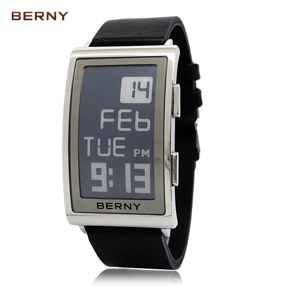 2017 new arrival berny cheapest electronic ink watches men numerals e-ink watch...