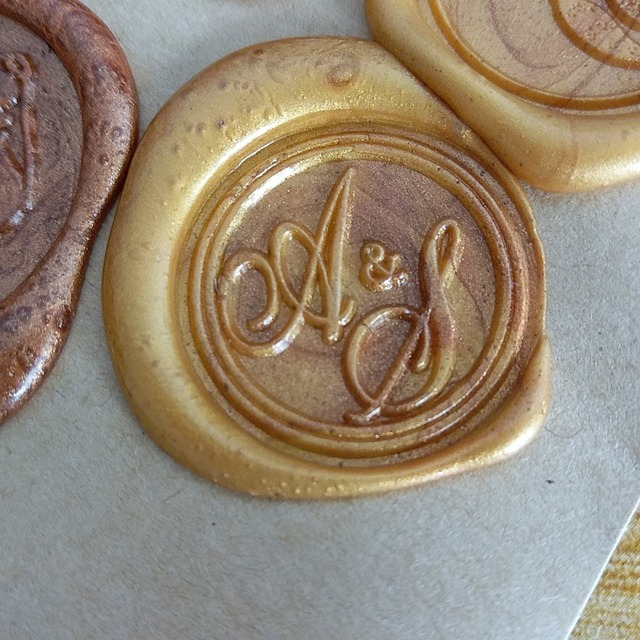 Personalized 2 Initials Monogram Wax Seal Stamp Sealing Wedding Invitation Seals