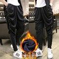 M ~ 3XL! 2016 Dos Homens de roupas soltas harem pants personalidade calças grandes calças skinny casuais calças compridas hiphop trajes cantor