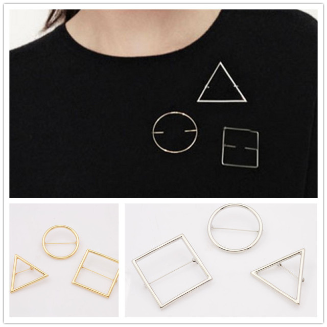 Мода ювелирных изделий геометрия дизайн броши хороший подарок для женщин дамы 1 компл. = 3 шт. BR82