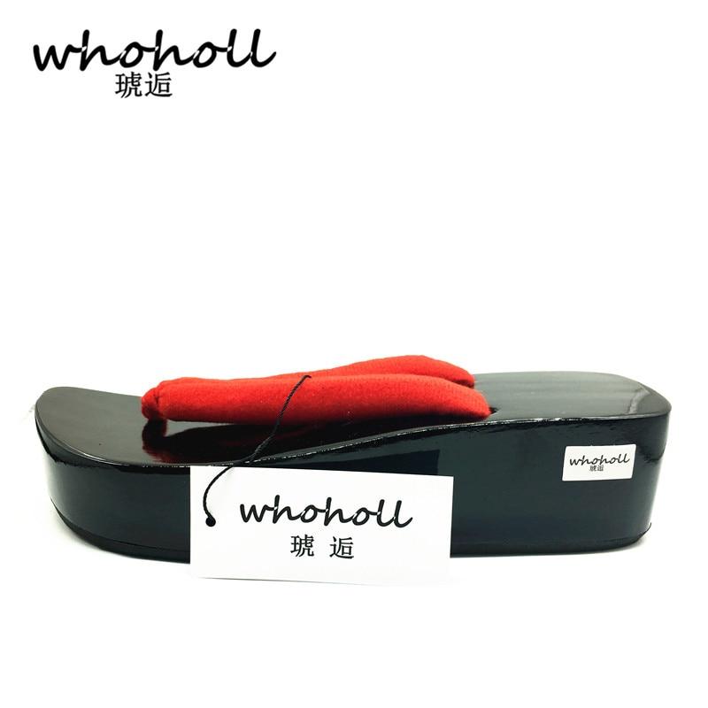 Japonais Tongs Homme Whoholl Sabots Onmyoji Mâle Bateaux Noir Chaussures D'été rouge Cosplay Sandales Couple Geta wYqATFAXxd