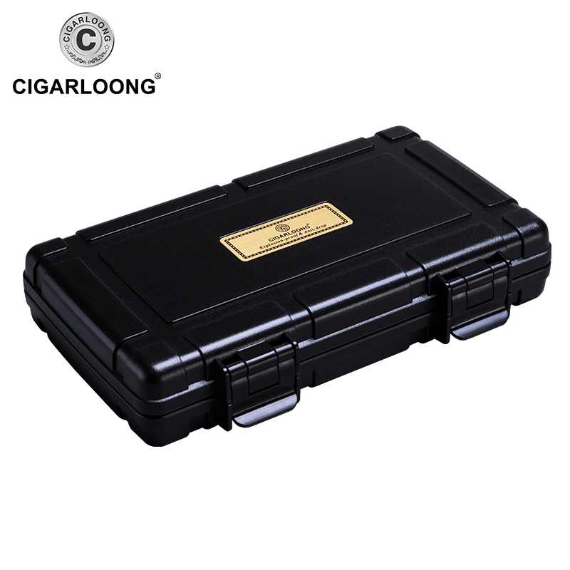 CIGARLOONG Cigar Humidors Portable Travel Cigar Humidors Cigar Box 5 sticks CA 0020 in Cigar Accessories from Home Garden