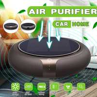 4W Solar Vehicle Odor Eliminator ABS Small Multiple Filtration Portable Round Car Air Purifier Car Accessories
