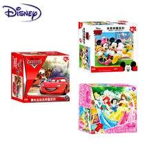 Disney-rompecabezas de Mickey/princesas/Pooh/Racing para niños, 60 piezas, regalo de cumpleaños