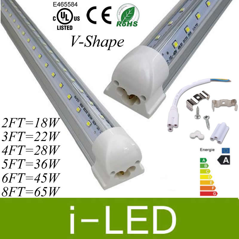 8 Ft 2 Lamp Fluorescent Strip Light White No Ssf2964wp 8ft: V Shaped T8 Led Integrated Tube 2ft 3ft 4ft 5ft 6ft 8ft