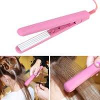 Мини-розовый керамический электронный выпрямитель для волос, утюжок для выпрямления волос Chapinha, гофрированные утюги, щипцы для волос, инстр...