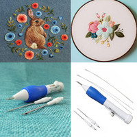 New Magic Embroidery Pen Embroidery Needle Weaving Tool DIY Fancy Sewing Accessory 2018 drop shipping
