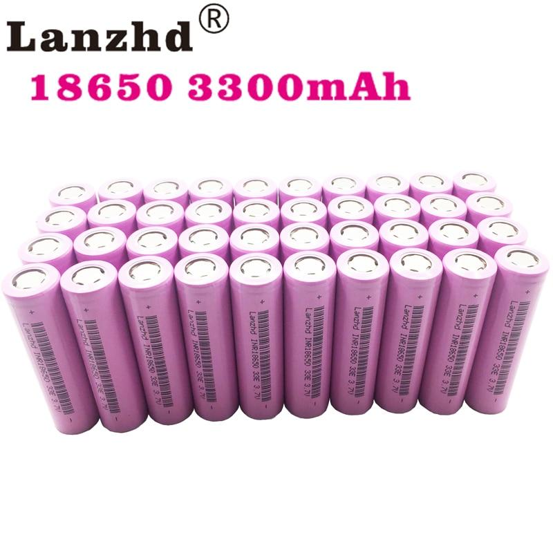 18650 Batteries rechargeables pour Samsung 18650 batterie 3300 mAh INR18650 30A lithium Li ion 3.7 V 18650VTC7 18650 (40 pièces-400 pièces)