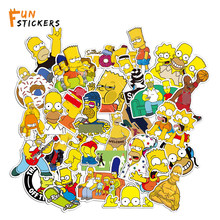 Simpsons family social cartoon characters crossing the road waterproof stickers laptop skateboard guitar suitcase stickers A0376(China)