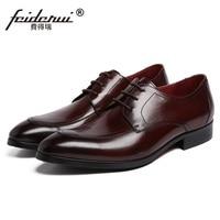 RUIMOSI New Arrival Formal Man Dress Shoes Genuine Leather Male Platform Oxfords Luxury Brand Men S