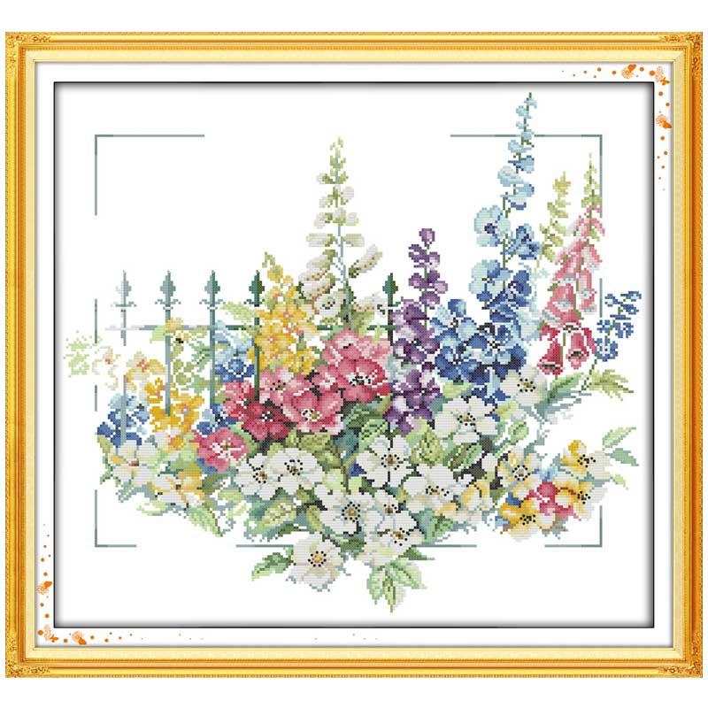 Садовые узоры Счетный вышивки крестом 11CT 14CT набор крестиков оптом Набор для вышивания крестиком Цветок Набор для вышивания рукоделия