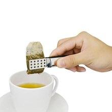 Многоразовый зажим для чайных пакетиков, щипцы из нержавеющей стали, соковыжималка с ситом, держатель для хлеба, льда, сахара, чая, Листьев, пищевой зажим для кухонного бара, инструмент