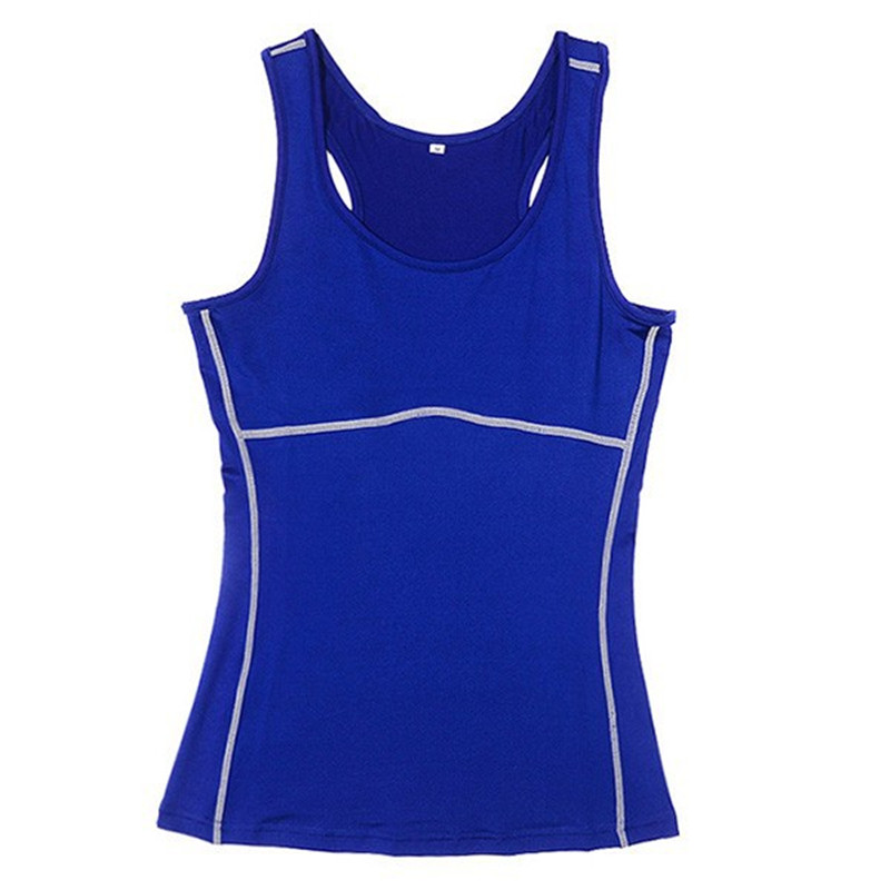 Women Compression Under Base Sports Wear Yoga Tank Tops Ladies Gym Shirts Skins Clothes Running Cami Vest