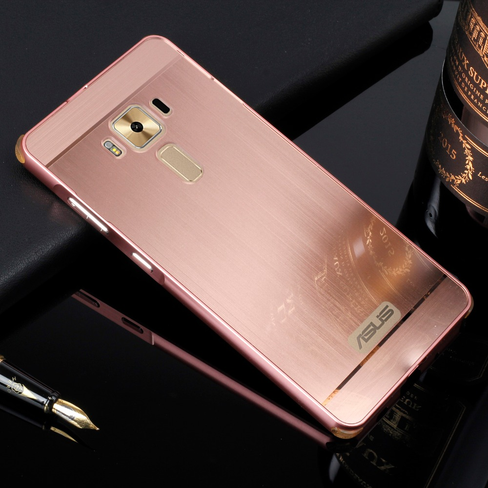 For Asus Zenfone 3 Deluxe Zs570kl Plating Metal Aluminum Bumper Alumunium Case 2 55 Brushed Pc Acrylic In1 Anti Knock Cover Capa Para In Phone From Cellphones
