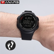 PANARS Pedometer Digital Watch Sport Running Watch Men LED Electronic Wrist Watches Man Water Resistant Stopwatch Alarm Clock
