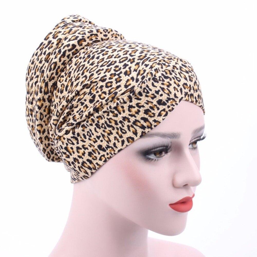 Women Floral Kerchief Leopard Patterns Cotton Chemotherapy Cap ...