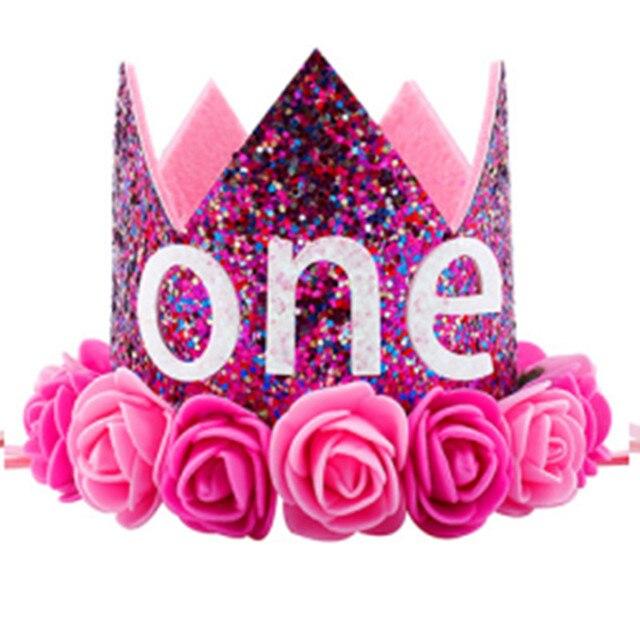 Chapeau De Fete D Anniversaire Pour Bebes Filles Bandeau Mignon Avec Fleur De Princesse Couronne Chapeaux Cadeaux Aliexpress
