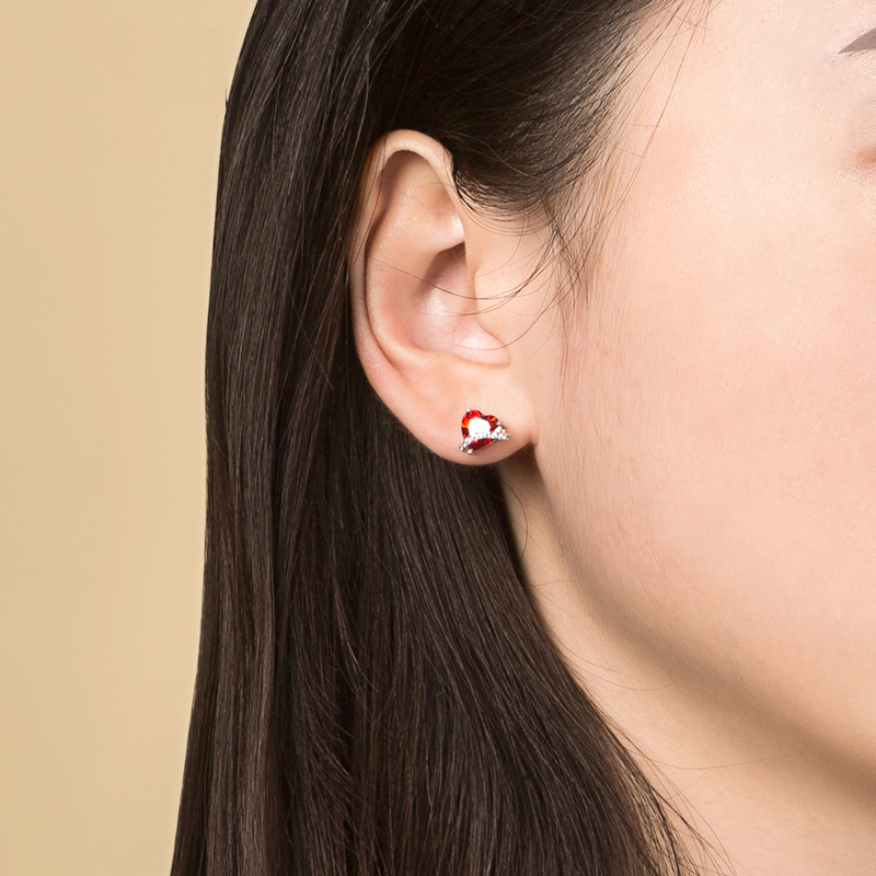SA SILVERAGE One Arrow Fall In Love Simple Ins Temperament Korean Personality 925 Sterling Silver Earrings Female 2019 Popular in Earrings from Jewelry Accessories