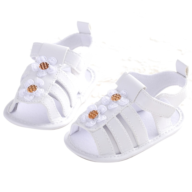0-18M Baby Shoes Infant Girls Toddler Hollow Flower Crib Shoes Summer Prewalkers New