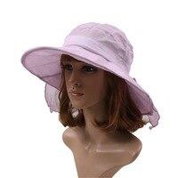 Para mujer del verano forman gran tamaño del visera UV protección viajero sombrero playa tapa exterior del sombrero del ocio del arco de mariposa