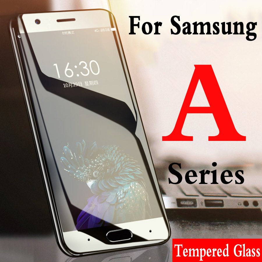 For samsung <font><b>a5</b></font> 2017 screen protector on the galaxy protective glass a6 a3 a7 a8 <font><b>2016</b></font> 2018 plus 3a 5a a tempered glas 3 <font><b>5</b></font> 6 7 8 image