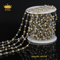 3x4mm Rondelle Grey AB Glass Beads Chain Garland Flowers Wedding Decoration For Jewelry Findings 5 Meters LS30