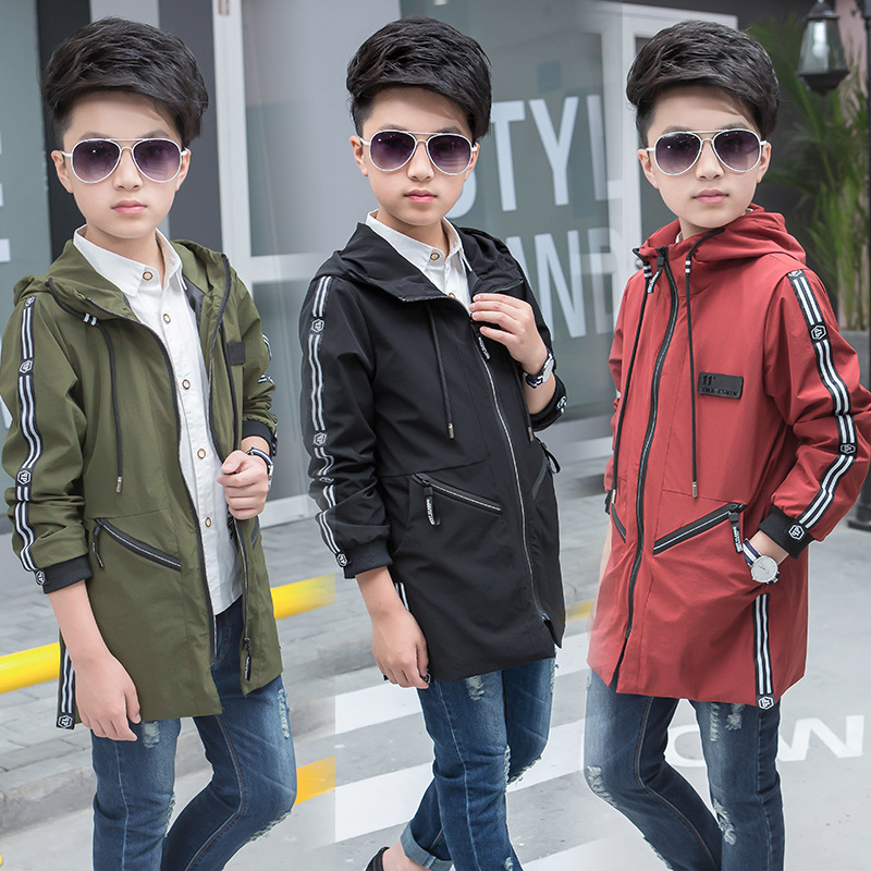 Winter Baby Boys Outwear Coats and Jackets Autumn Windbreaker Hooded Boy Coat Long Sleeve Casual Children Clothes Kids Clothing shein faux fur trim hood embroidery applique coat casual women winter coats navy long sleeve zipper hooded coat