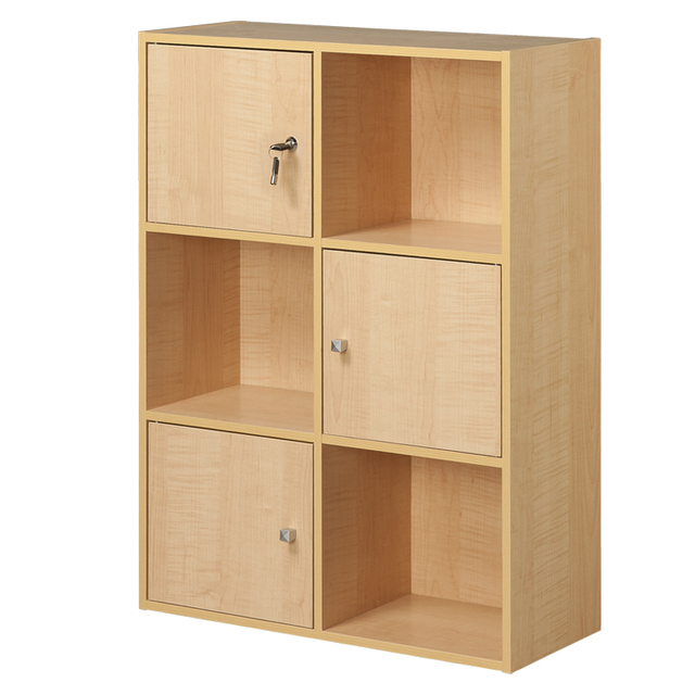Allstate New Simple Six Lattice Door Bookcase Cabinet Storage Cabinet With  Lock Storage Combination With Low