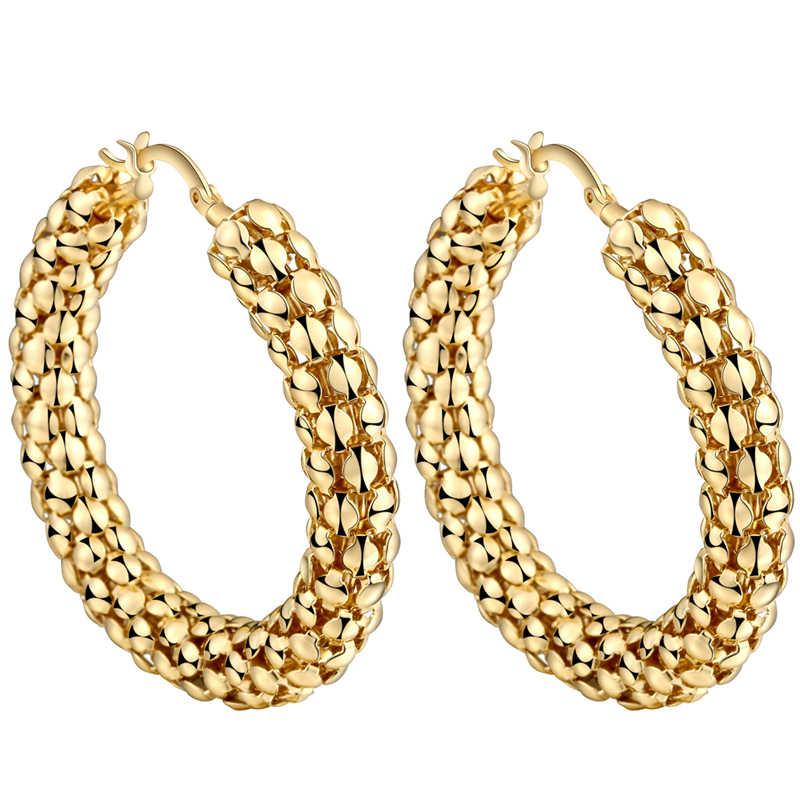 CWEEL Big Hoop Ohrringe Für Frauen Ohrringe Kreis Punk Indische Earing Große Aussage Geometrie Gold Farbe Big Brincos