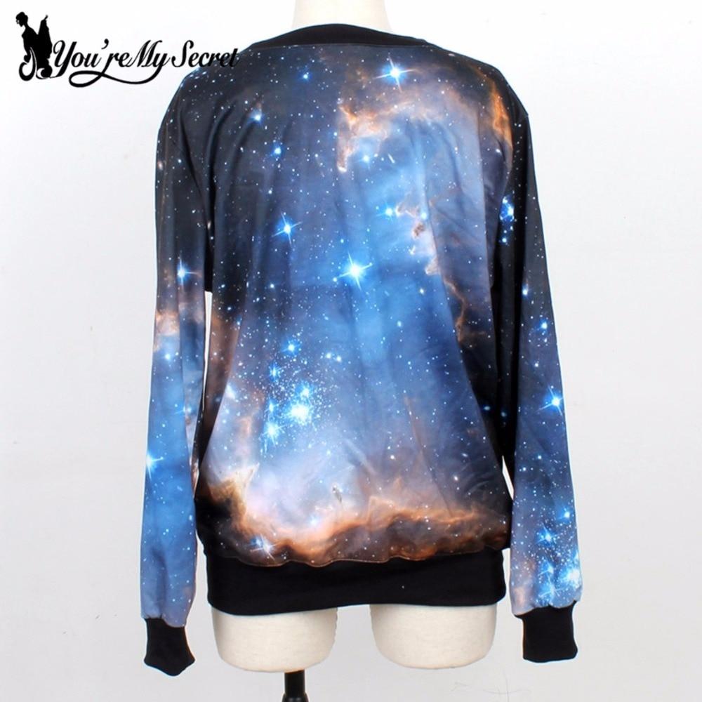 [Youre My Secret]Feminino Moletons Fashion Women Hoody Cosmic Galaxy 3D Printed Autumn Sweatshirt Long Sleeve Casual women Suit