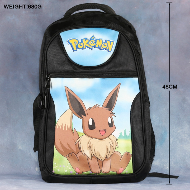 High-quality Pokemon GO Anime Backpack School Bag Laptop Bag Double-Shoulder Travel Bag Pakachu Eevee Charizard Dragon Ball anime tokyo ghoul cosplay anime shoulder bag male and female middle school student travel leisure backpack