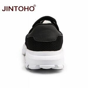Image 4 - Jintoho Size Lớn Mùa Hè Nam Giày Slip On Nam Lười Nữ Thoáng Khí Nam Giày Casual Nam Thương Hiệu Giày Nam Giày