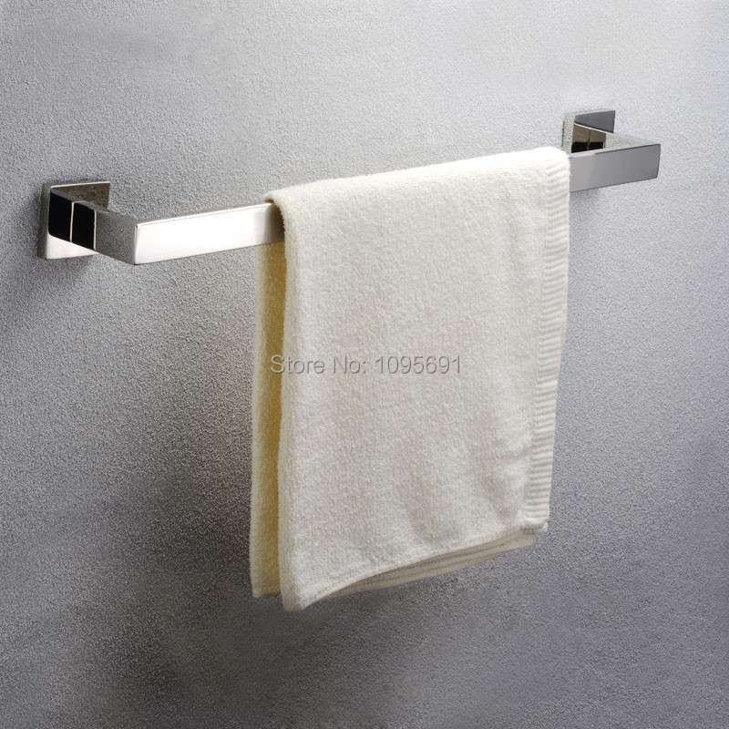 Bathroom Accessories Products 60cm Solid 304 Stainless Steel Mirror Surface Single Towel Bar,SUS 304 Towel Holder 304 stainless steel 280 140 500mm bathroom shelf bathroom products bathroom accessories 29016