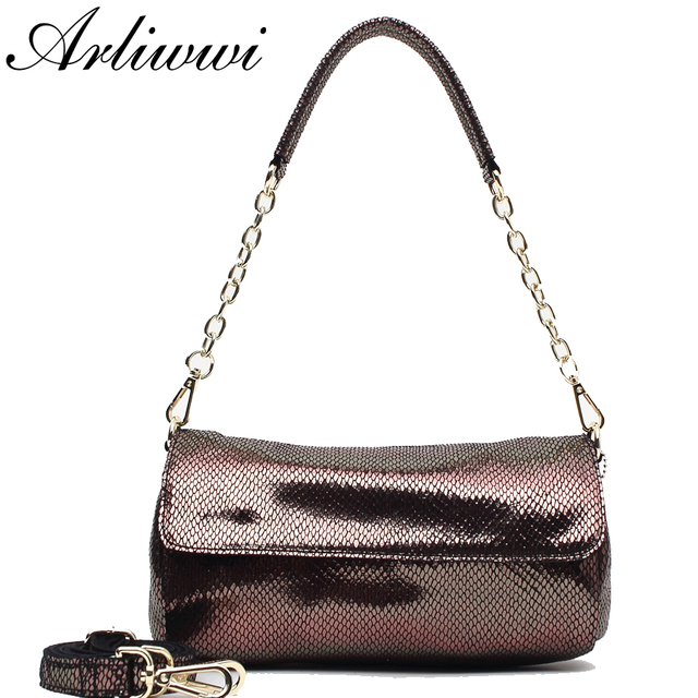 444c976b284d Real Leather Serpentine Pattern Bags Handbags Women Fashion Brand Designer  Lady Luxury Metallic Color Round Small Handbags S2529