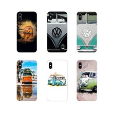 Volkswagen VW Minibus T1 BUS Accessories Phone Shell Case For Samsung Galaxy S4 S5 MINI S6 S7 edge S8 S9 S10 Plus Note 3 4 5 8 9(China)
