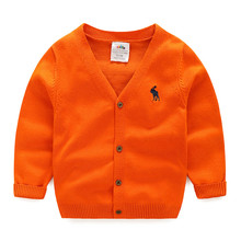 2016 autumn children's clothes solid long sleeve cotton baby boys cardigan sweaters for boys kids causal knitted sweaters tops