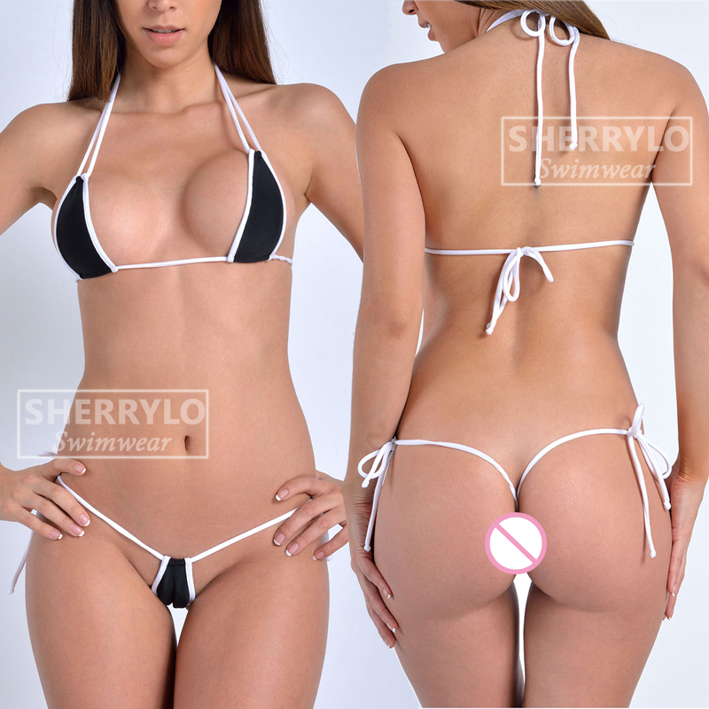 Super <font><b>Sexy</b></font> Microkini <font><b>G</b></font> <font><b>String</b></font> Thong Back <font><b>Micro</b></font> <font><b>Bikini</b></font> Sets Hot Colorful <font><b>Mini</b></font> Swimsuit Women Swimwear Female <font><b>Extreme</b></font> Bathing Suit image