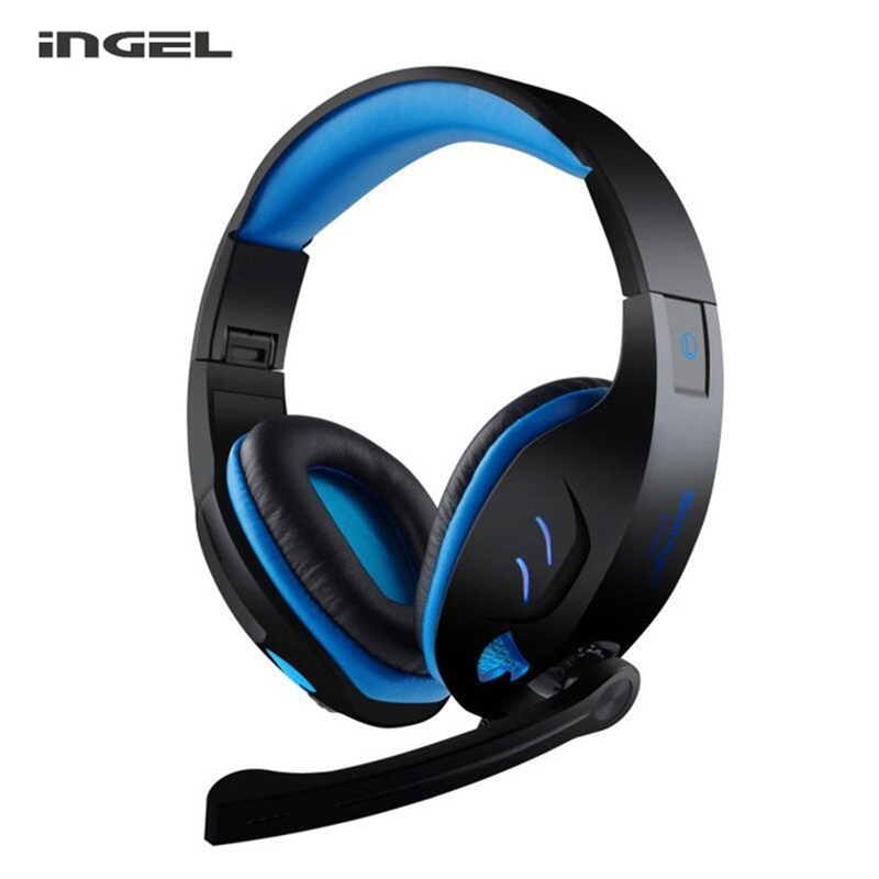 INGEL 968 Original Gaming Headset Computer Game Headphones with Mic LED Light Over-ear Earphones For PC Gamer Freeshipping NEW outdoor bike bicycle upper tube bag black red