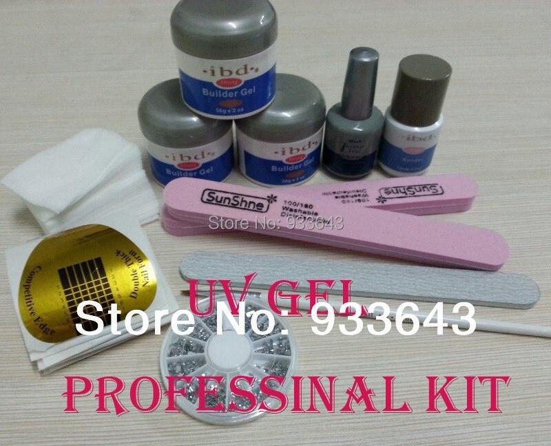 ФОТО Nail Art UV Gel nail saloon ibd Builder Gel Clear gel nail art set nails & tools k-12