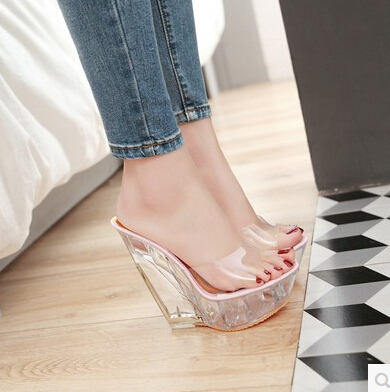 15cm slope with high heels shoes sandals korean ladies. Black Bedroom Furniture Sets. Home Design Ideas
