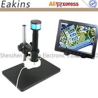 Full 2 in1 2.0MP VGA/AV Digital Industry Microscope Camera set kit+300X C-Mount Lens+56 LED ring Light+Big stand holder+8