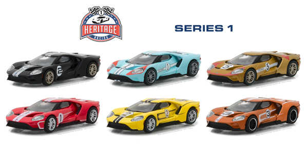 GL 1:64 Ford GT Racing Heritage Series 1 alloy model Car Diecast Metal Toys Birthday Gift For Kids Boy