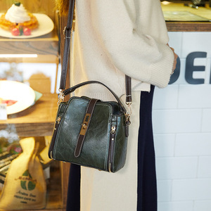 Image 3 - FUNMARDI Vintage Bucket Shoulder Bags Women Handbags Fashion PU Leather Crossbody Bag For Women Zipper Design Lady Bag WLHB1935