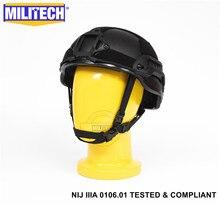 ISO 인증 NIJ 레벨 IIIA 3A Militech BK 2019 아크 미드 컷 방탄 센트리 XP Aramid 탄도 헬멧 5 년 보증
