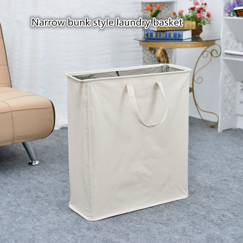 Us 42 12 18 Off Folded Double Laundry Basket The Bathroom Large Toy Receive A Of Storage Dirty In