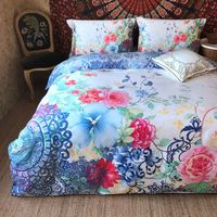 Luxury Egyptian long staple cotton Mandala Bedding Set Bohemia duvet covers Classical Chinese style Bed bedclothes40