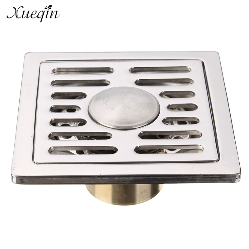 Xueqin 201 Stainless Steel Shower Floor Drain Kitchen Sink Drain Anti Odor Antique Brass Thicken Floor Drain stainless steel hand palm odor remover lasts forever