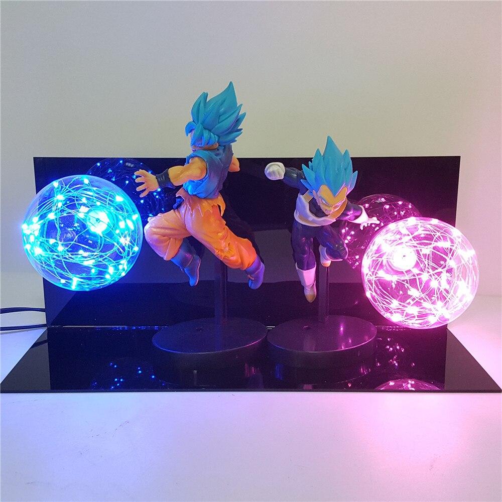 Dragon Ball Super Lampara Luminaria Goku Vegeta Anime Dragon Ball Z Goku Vegeta DBZ Led Night Light Desk lamp Dragon Ball Lamp