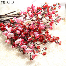 YO CHO Wedding Decoration Wholesale Party Home Decorative Artificial White Cherry Blossom Tree Fake Sakura Orchid Flowers DIY