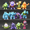 12Pcs/Set Monsters University Big Eye Monster Toy Doll Monsters Inc 2 Electricity Company Action Figures Model Decorate Kid Gift